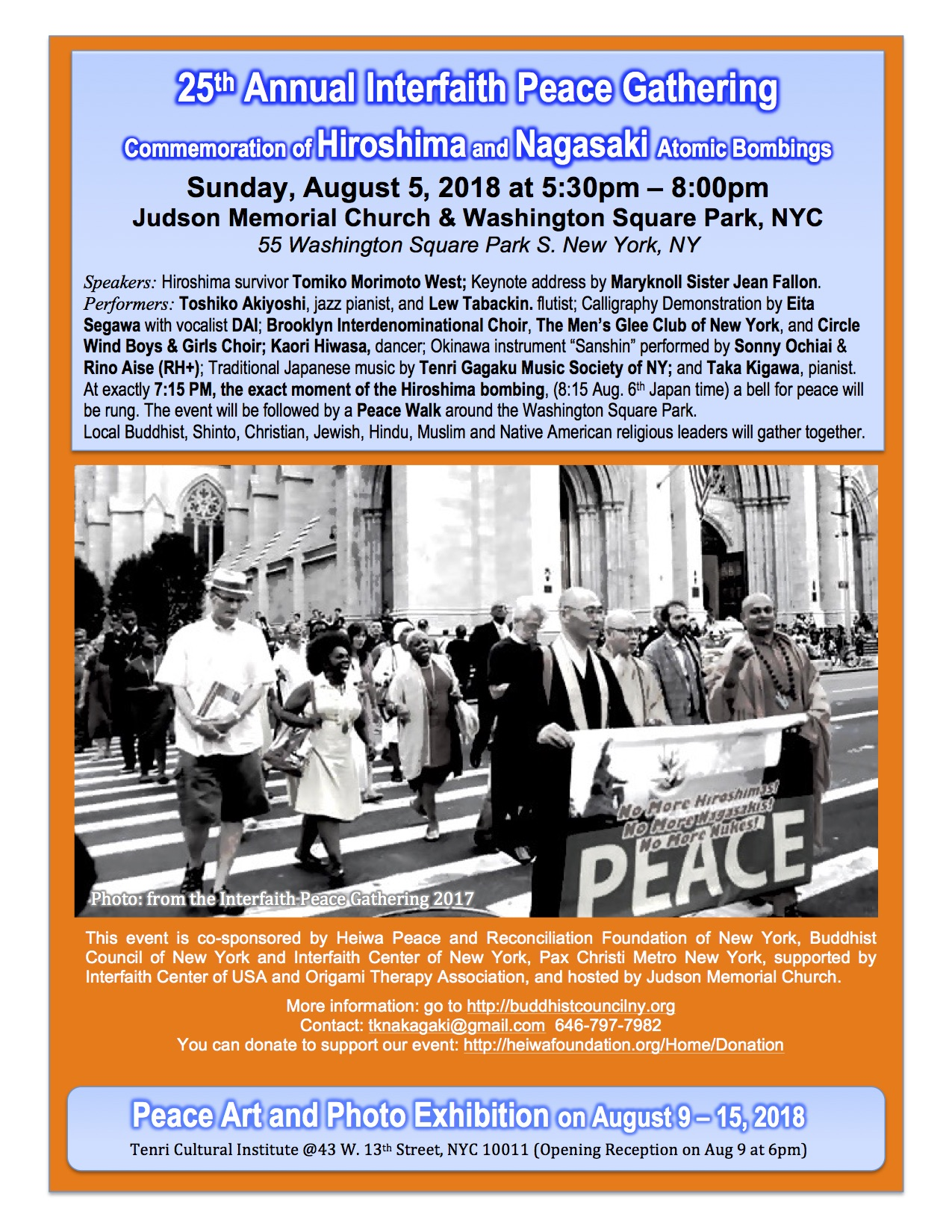 25th Annual Interfaith Peace Gathering